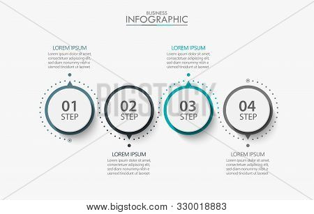 Business Data Visualization. Timeline Infographic Icons Designed For Abstract Background Template Mi