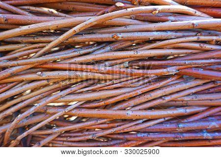 Woven Twig Tree Background Diy Wickerwork Backdrop