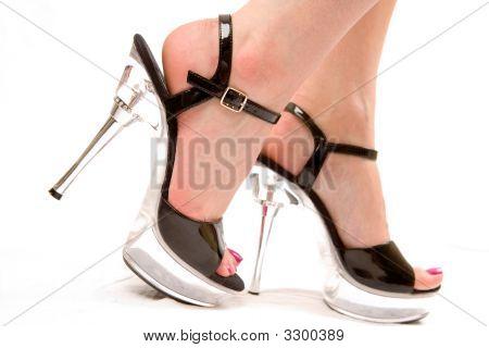 Woman Walking In High Heels