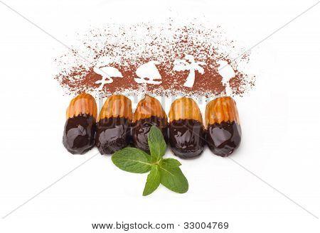 Sweet Cake With Chocolate