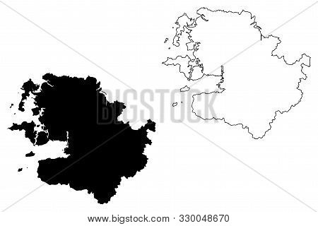 Mayo County Council (republic Of Ireland, Counties Of Ireland) Map Vector Illustration, Scribble Ske