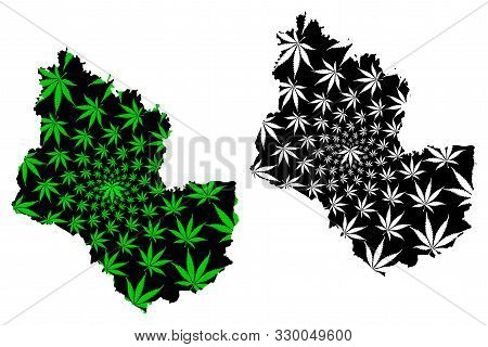 Sakon Nakhon Province (kingdom Of Thailand, Siam, Provinces Of Thailand) Map Is Designed Cannabis Le