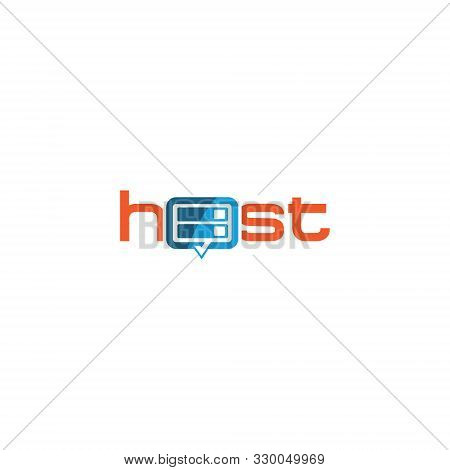 Creative & Modern Hosting Logo Design Template Vector Eps For Host Company, Business Or Industry Pur