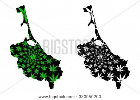 Songkhla Province (kingdom Of Thailand, Siam, Provinces Of Thailand) Map Is Designed Cannabis Leaf G