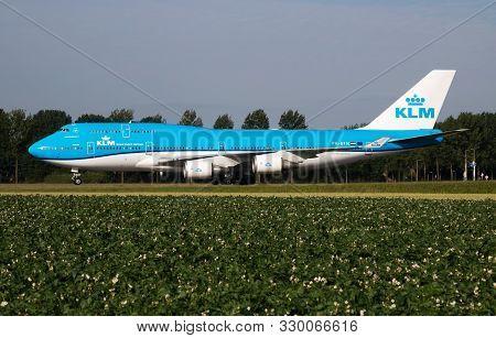 Amsterdam / Netherlands - July 3, 2017: Klm Royal Dutch Airlines Boeing 747-400 Ph-bfn Passenger Pla