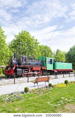 steam locomotive, Kostolac, Serbia