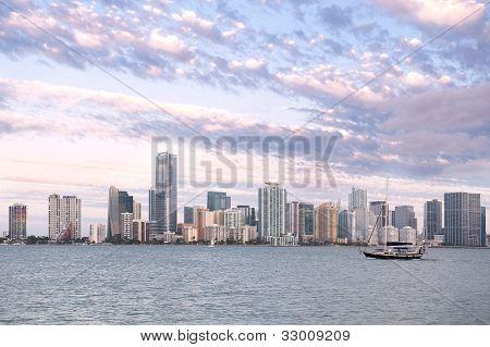 Miami Skyline From Key Biscayne