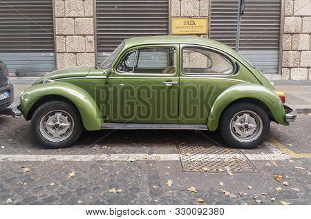 Olive Green Volkswagen Beetle Car