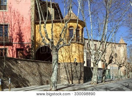 House Of Roman Catholic Diocese Of Vic. Town Of Vic, Province Of Barcelona, Catalonia, Spain.