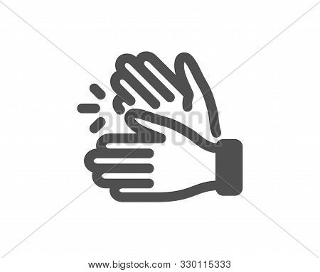Clap Sign. Clapping Hands Icon. Victory Gesture Symbol. Classic Flat Style. Simple Clapping Hands Ic