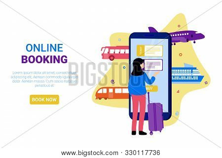 Various Transportation. Airplane, Bus, Train, Cruise Ship, Railway. Booking Online Tickets Now. Flat