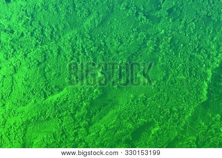 Nice Green Festal Style Highlighted Volume Stucco Texture - Abstract Photo Background