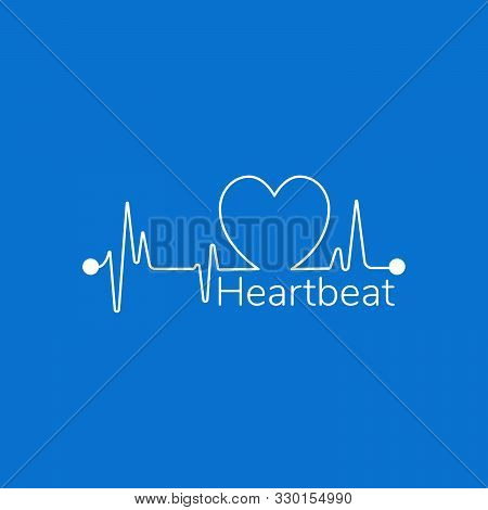 Pulse Or Heartbeat Linear Icon. Modern Outline Pulse Logo Concept For Health And Medical Porpuses. S
