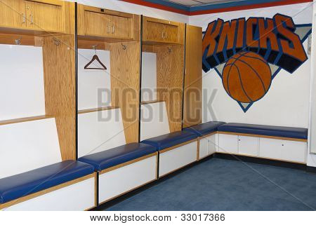 Locker room of New York Knicks