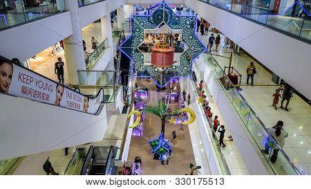Kota Kinabalu,sabah-june 1,2019:view Of Centre Mall Hall Of Suria Sabah Shopping Mall In Kota Kinaba