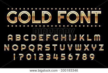 Gold Gambling Alphabet. Elegant Rich Casino Abc, Golden Borders Font 3d Symbols, Gold Chic Letters F