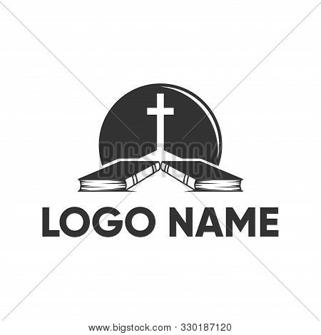 Abstract Christian Cross Logo Vector Template. Church Logo