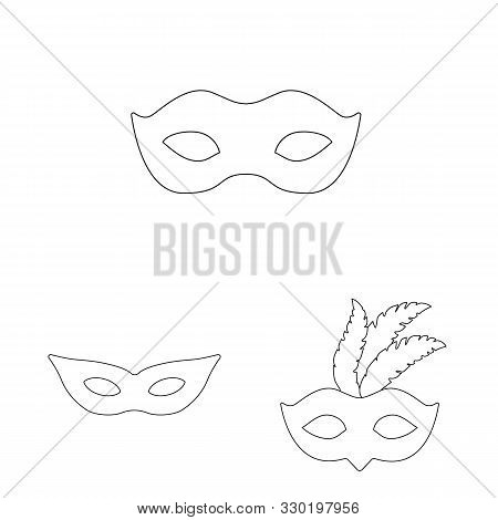 Isolated Object Of Masquerade And Mystery Logo. Collection Of Masquerade And Festival Stock Symbol F