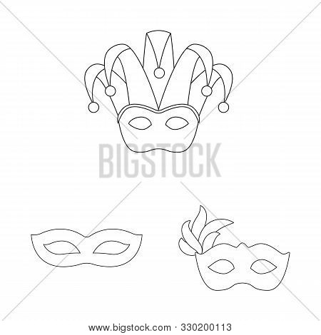 Vector Illustration Of Masquerade And Mystery Symbol. Collection Of Masquerade And Festival Stock Ve