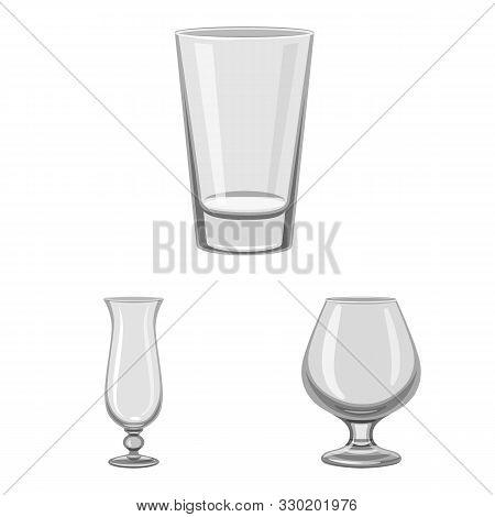 Vector Illustration Of Capacity And Glassware Logo. Set Of Capacity And Restaurant Stock Vector Illu