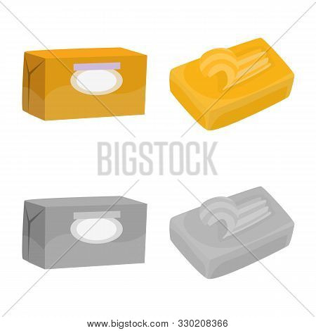 Vector Illustration Of Creamy And Product Icon. Set Of Creamy And Farm Vector Icon For Stock.