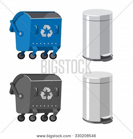 Vector Design Of Refuse And Junk Icon. Collection Of Refuse And Waste Stock Vector Illustration.