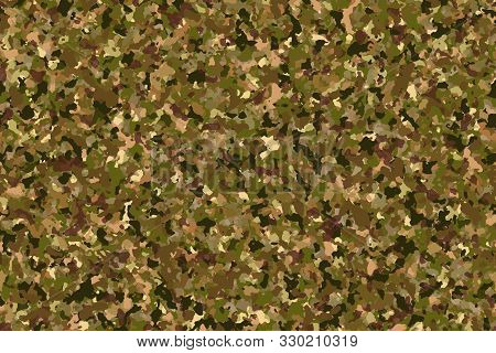 Pine Forest Camouflage (green-dark Brown) Fashion Pattern For Use In The Army To Camouflage In War O
