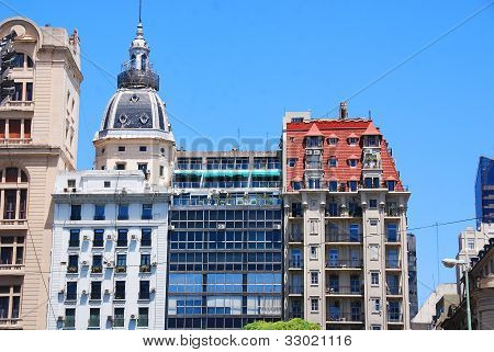 Famous and nice 19th - century historic European building of downtown Buenos Aires, Argentina., Sout