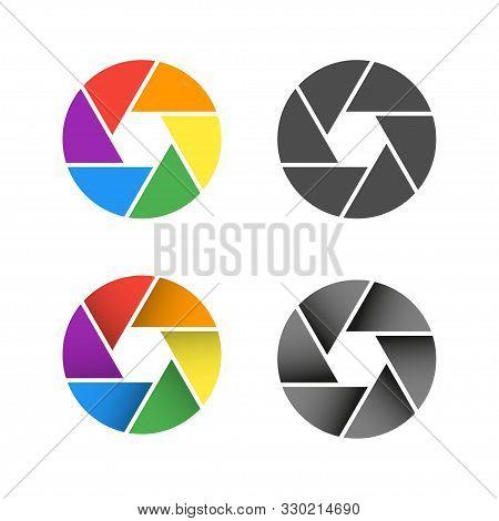 Set Zoom Camera Icons. Zoom Camera Icon. Zoom Camera Vector Icon