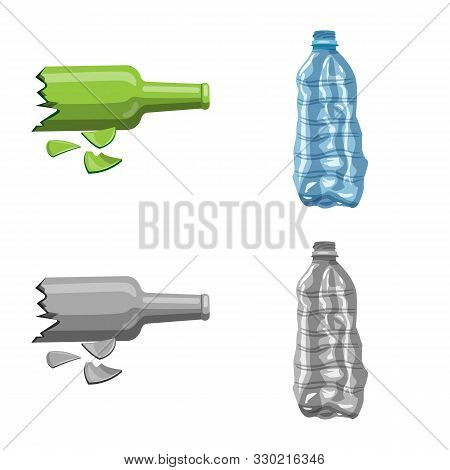 Vector Design Of Refuse And Junk Symbol. Collection Of Refuse And Waste Vector Icon For Stock.