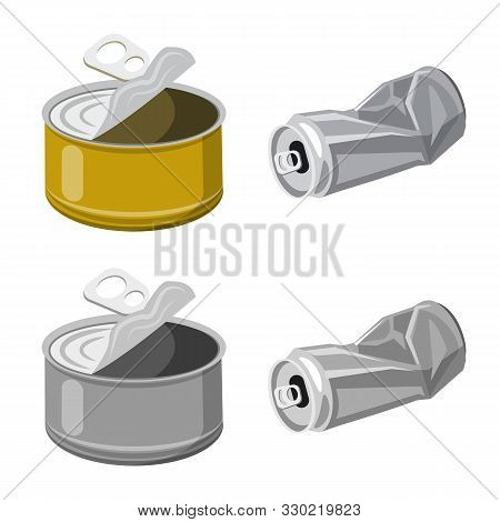 Vector Illustration Of Refuse And Junk Logo. Set Of Refuse And Waste Stock Vector Illustration.
