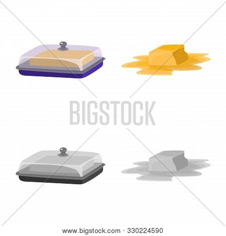 Isolated Object Of Creamy And Product Logo. Collection Of Creamy And Farm Stock Vector Illustration.