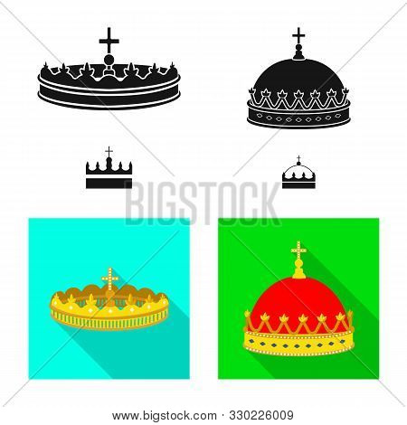 Vector Design Of Medieval And Nobility Symbol. Set Of Medieval And Monarchy Stock Vector Illustratio