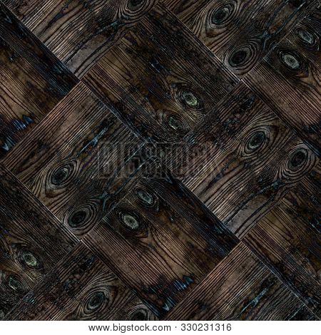 Parquet Wooden Seamless Ornament Pattern Background  Textile