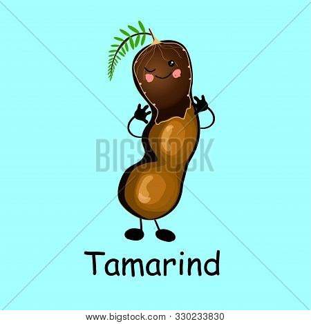 Tamarind. Character Is Cheerful With Arms And Legs. Set Of Fruits On A White Background ...