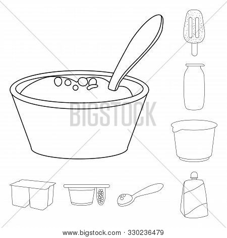 Vector Design Of Calcium And Food Logo. Set Of Calcium And Product Stock Vector Illustration.