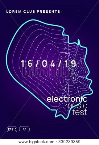 Trance party. Energy discotheque cover template. Dynamic gradient shape and line. Neon trance party flyer. Electro dance music. Electronic sound. Club dj poster. Techno fest event. poster