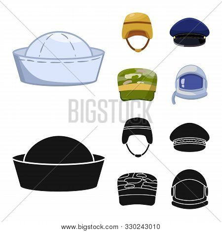 Vector Illustration Of Headdress And Clothing Icon. Collection Of Headdress And Armed Stock Vector I