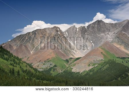 Canada Landscape. Kananaskis Country Provincial Park. Rocky Mountains. Storm Mountain.