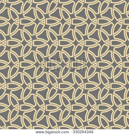Orient Vector Classic Golden Pattern. Seamless Abstract Background With Vintage Golden Elements. Ori