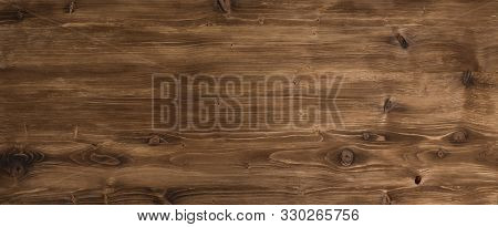Brown Smooth Rustic Wood Surface For A Background