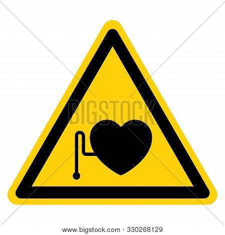 Warning No Access For Persons With Pacemakers Symbol Sign, Vector Illustration, Isolate On White Bac