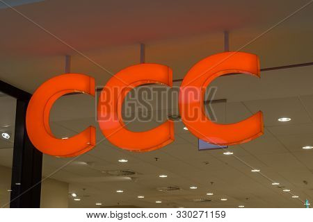 Krakow, Poland - July 28, 2019: Logo And Sign Of Ccc.