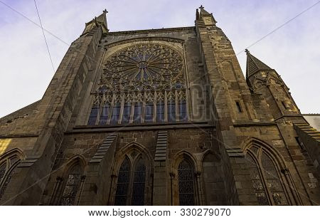 Saint-malo, Brittany, France - May 31: Cathedral Of Saint Vincent Of Saragossa (cathedrale Saint-vin
