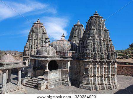 Exterior Of Ancient Jain Temple In Kumbhalgarh, Rajasthan State Of India
