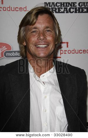 BEVERLY HILLS - SEPT 21: Christopher Atkins at the 'Machine Gun Preacher' Los Angeles premiere at Academy of Television Arts & Sciences on September 21, 2011 in Beverly Hills, CA
