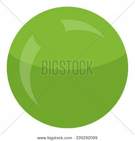 Green Round Peas Icon. Isometric Of Green Round Peas Vector Icon For Web Design Isolated On White Ba