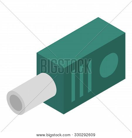 Audio Adapter Icon. Isometric Of Audio Adapter Vector Icon For Web Design Isolated On White Backgrou