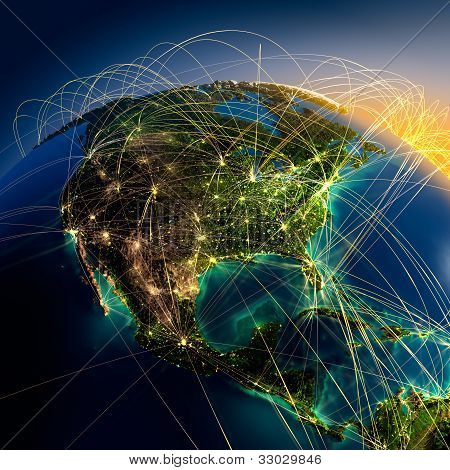 Main Air Routes In North America