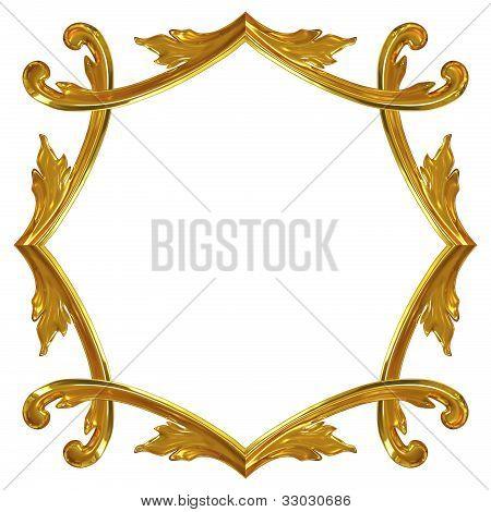 3D Gold Ornate